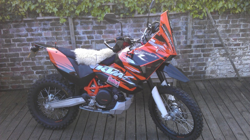 Mark's KTM before the 2012 trip.