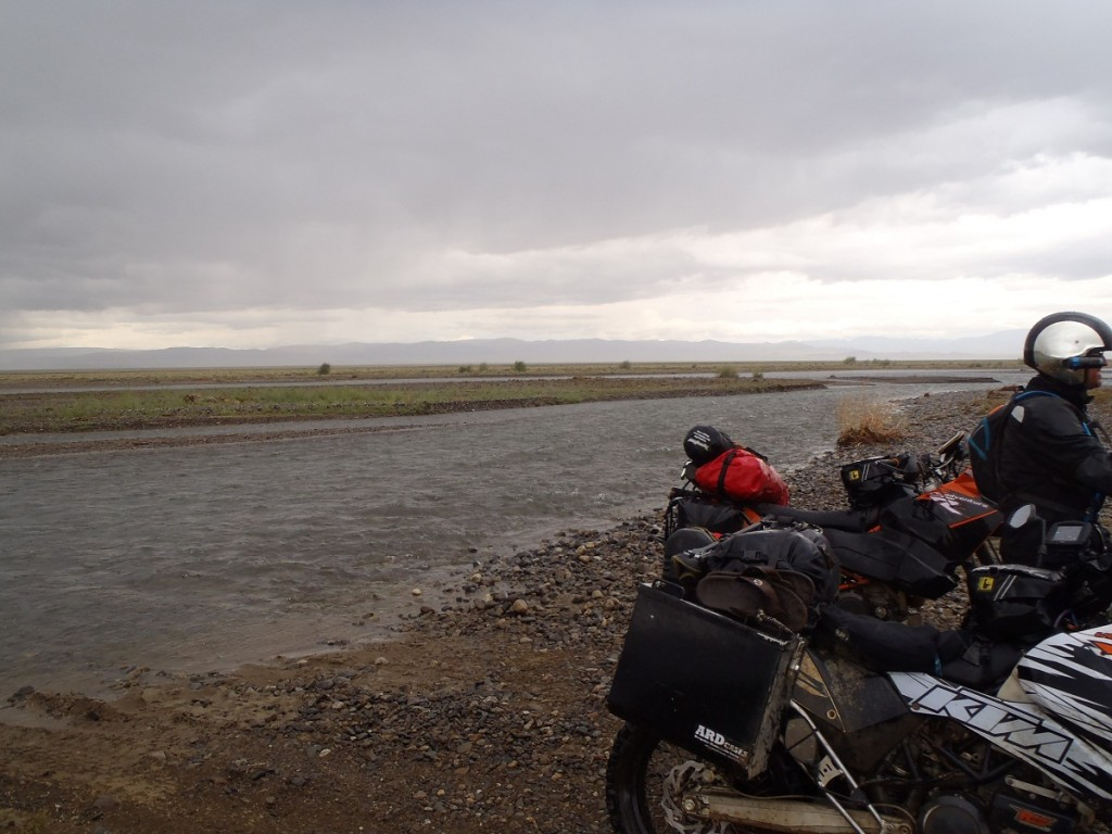 After Mongolian river crossing.
