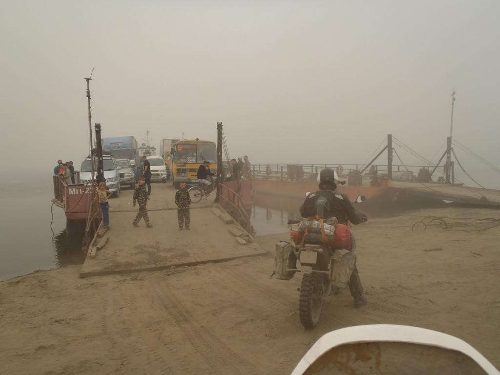 Aldan river Ferry