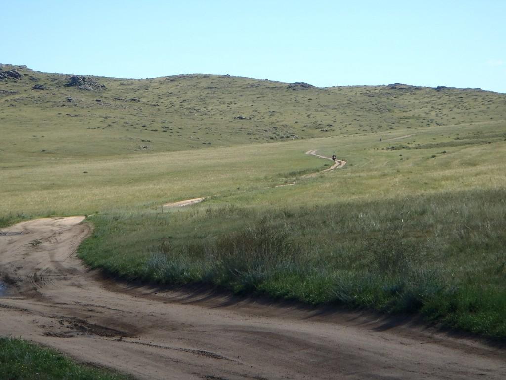 Mongolian track towards Ulaangom.