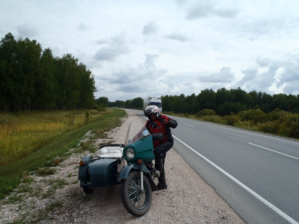 Natalayia and her Ural.