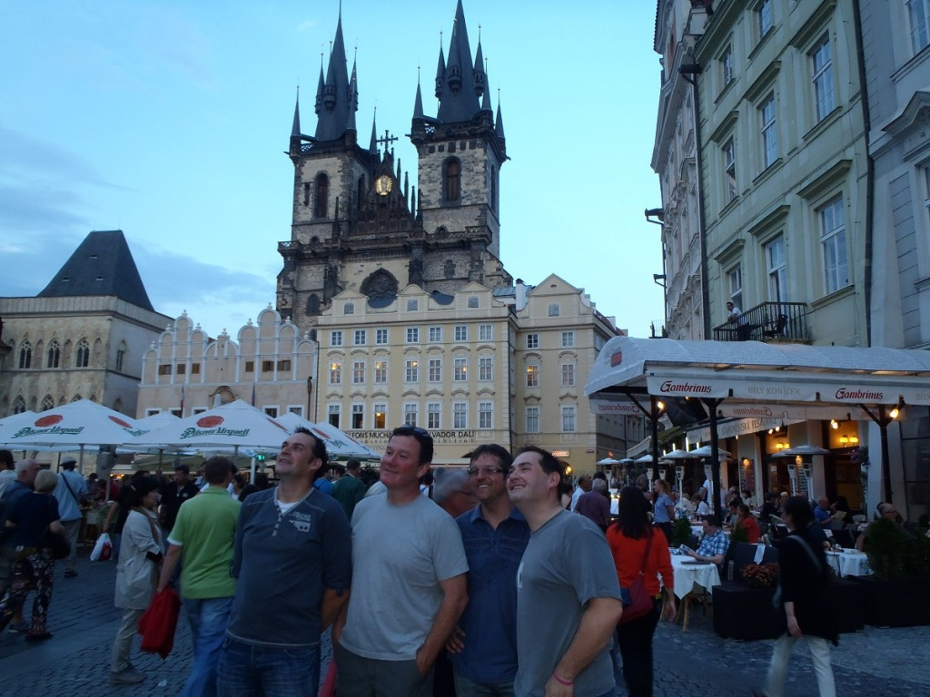 The boys in Prague.